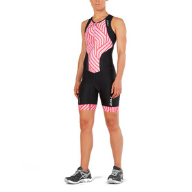 2XU Perform Front Zip Trisuit Damen black/rose pink tide